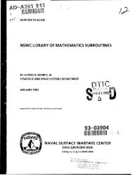 NSWC Library of Mathematics Subroutines