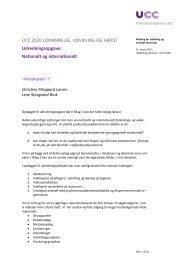 Udredning, ekstern - UCC 2020 - Professionshøjskolen UCC