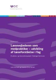 Læsevejlederen som medpraktiker – udvikling af læseforståelse i fag