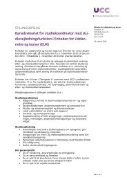 dievejledningsfunktion i Enheden for Uddan- nelse og kurser (EUK)