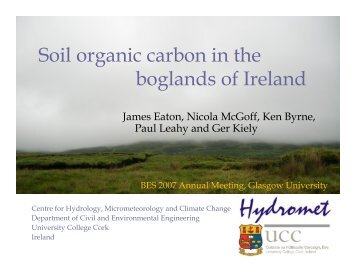Soil organic carbon in the boglands of Ireland - University College ...