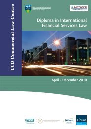 Diploma in International Financial Services Law - University College ...