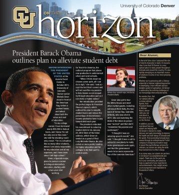 Spring 2012 CU on the Horizon - University of Colorado Denver