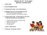 Litteratur der dur – for de yngste Hjørring 8. novembler 2012