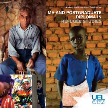 MA And PoStgrAdUAtE diPLoMA in rEfUgEE StUdiES - University of ...