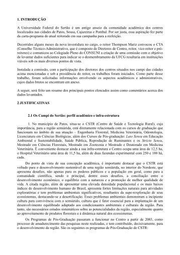 Relatório Técnico - UFCG