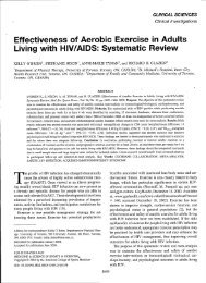 Effectiveness of Aerobic Exercise in Adults Living with HIV ... - UFRGS