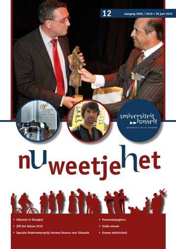 • UHasselt in Shanghai • JIM Kot Deluxe 2010 • Speciale ...