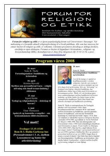Program våren 2008 - Universitetet i Stavanger