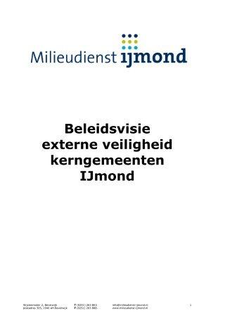 Beleidsvisie externe veiligheid kerngemeenten IJmond