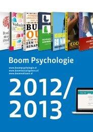 Boom Psychologie-catalogus 2012-2013 - Uitgeverij Boom