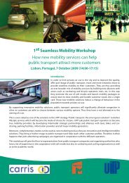 1st Seamless Mobility Workshop How new mobility services ... - UITP