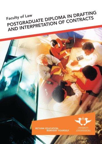 POSTGRADUATE DIPLOMA IN DRAFTING AND INTERPRETATION ...