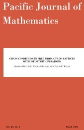 Chain conditions in free products of lattices with infinitary ... - MSP