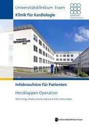 Herzklappen Operation Universitätsklinikum Essen Klinik für ...