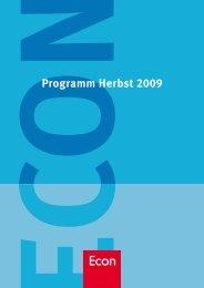 Programm Herbst 2009 - bei den Ullstein Buchverlagen
