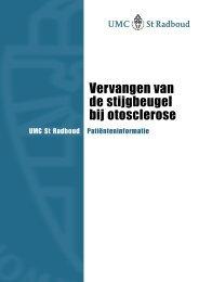 Vervangen van de stijgbeugel bij otosclerose - UMC St Radboud
