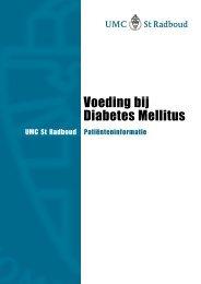 Voeding bij Diabetes Mellitus - UMC St Radboud