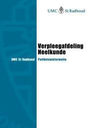 Folder: Verpleegafdeling Heelkunde - UMC St Radboud