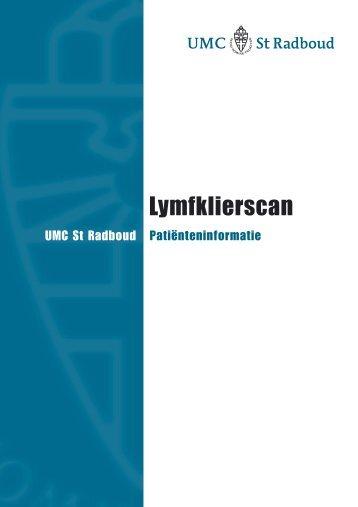 Lymfklierscintigrafie - UMC St Radboud
