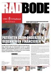 Radbode 18, 30 november 2012 - UMC St Radboud