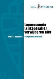 Laparoscopie (kijkoperatie) verwijderen nier - UMC St Radboud