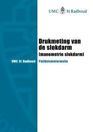 Drukmeting van de slokdarm - UMC St Radboud