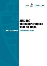 AMS 800 sluitspierprothese voor de blaas - UMC St Radboud