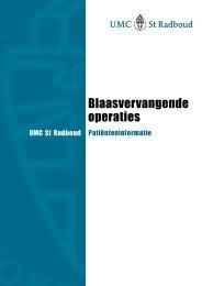 Blaasvervangende operaties - UMC St Radboud