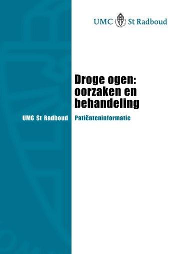 Droge ogen: oorzaken en behandeling - UMC St Radboud