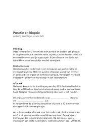 Brochure punctie en biopsie - UMC Utrecht