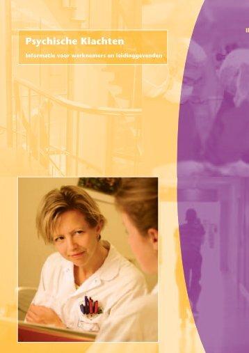 Psychische Klachten (PDF) - UMC Utrecht