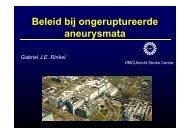Beleid bij asymptomatische intracraniële aneurysmata - UMC Utrecht