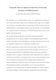 Nieuwsbrief meest gestelde vragen EURAP - UMC Utrecht