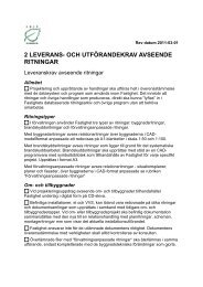 2 leverans- och utförandekrav avseende ritningar - Umeå kommun