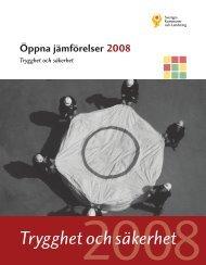Öppna jämförelser 2008 Trygghet och säkerhet - Umeå kommun