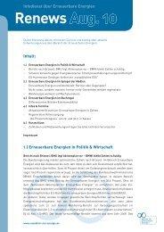 Renews August 2010 - Agentur für Erneuerbare Energien