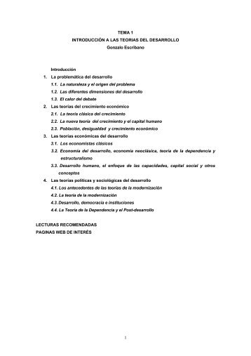 Introducción a las teorías del desarrollo - UNED