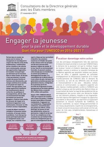 Engager la jeunesse - Unesco