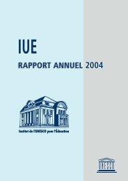 rapport annuel 2004 rapport annuel 2004 - Unesco