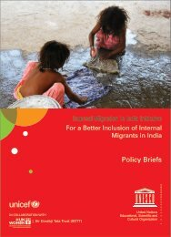 Policy Briefs: For a Better Inclusion of Internal Migrants in - Unesco
