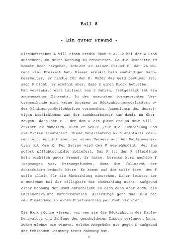 Fall 8 - Ein guter Freund -