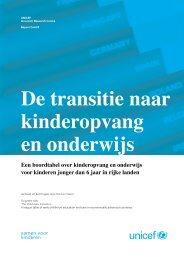 De transitie naar kinderopvang en onderwijs - Innocenti Research ...