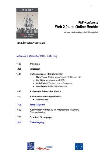 F&F-Konferenz Web 2.0 und Online-Rechte - UNI Global Union