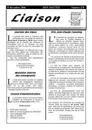 Liaison du 15 décembre 2006 - Université de Limoges