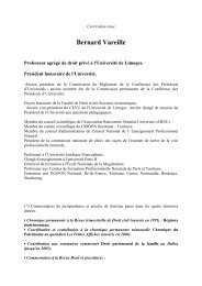 cv vareille - Université de Limoges