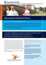 Nieuwsbrief Health & Fitness - Maastricht University