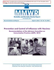 Prevention and Control of Influenza with Vaccines - Georgia Division ...