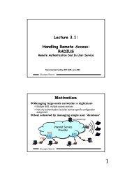 Lecture 3.1: Handling Remote Access: RADIUS Motivation