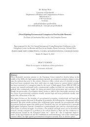 Governmental Corruption in Romania - Units.muohio.edu